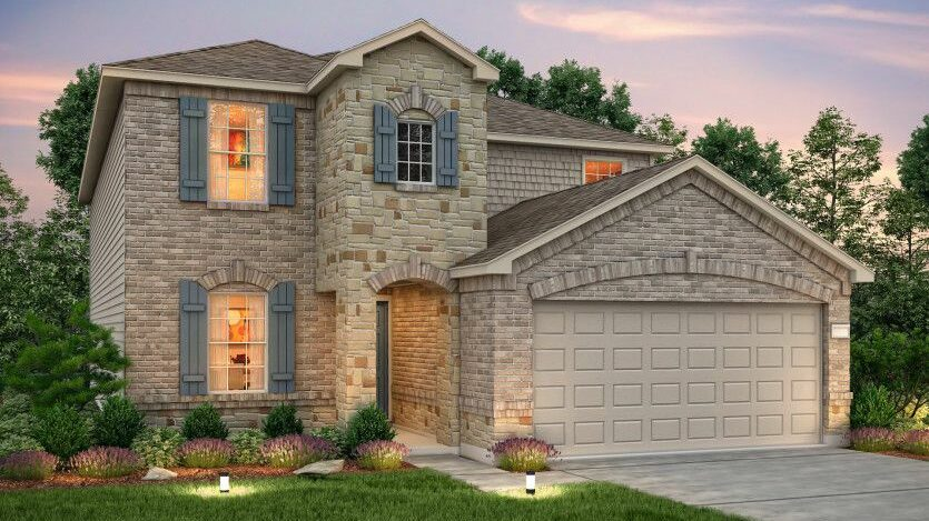 Exterior elevation of Centex new construction home in Missouri City, TX
