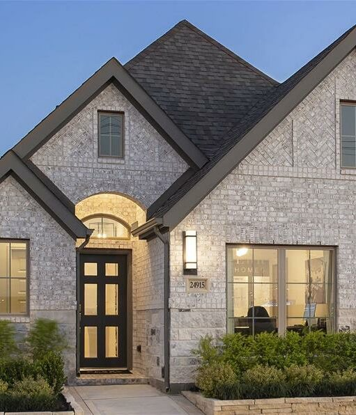 Exterior of home in Lakes of Bella Terra West new construction community