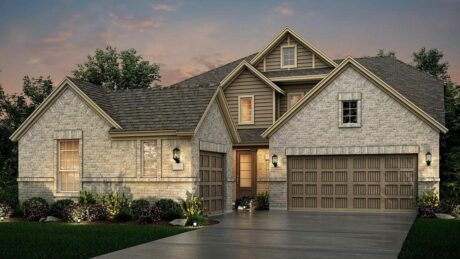Exterior elevation of Lennar new construction home in League City, TX