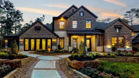 Exterior elevation of M/I new construction home in Pinehurst, TX
