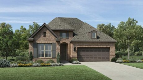 Exterior elevation of Toll Brothers new construction home in Spring, TX