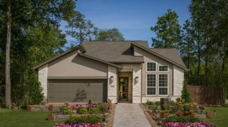 Exterior elevation of Trendmaker Homes new construction home in Humble, TX